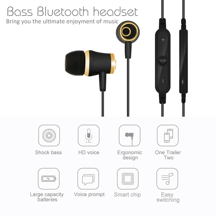 LENK S6 Wireless Bluetooth Earphone Sweat-Proof Stereo Bass Drive-by-wire Earbuds - iDeviceCase.com