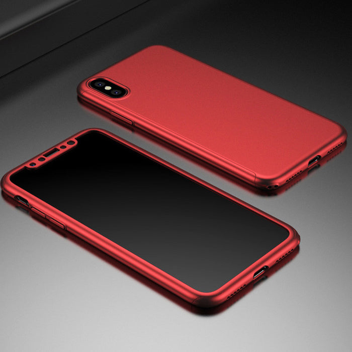 full cover front back set red PC hard luxury for X edition case capa coque funda 360 cover - iDeviceCase.com