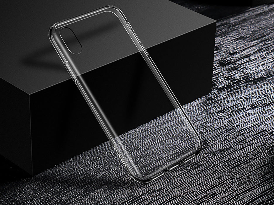 USAMS Slim Transparent Clear Hard PC Back TPU Case House Silicone Original Protective Cover - iDeviceCase.com