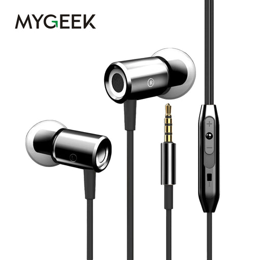 MyGeek 3.5mm Stereo Earphone Super Bass Headset with Mic - iDeviceCase.com