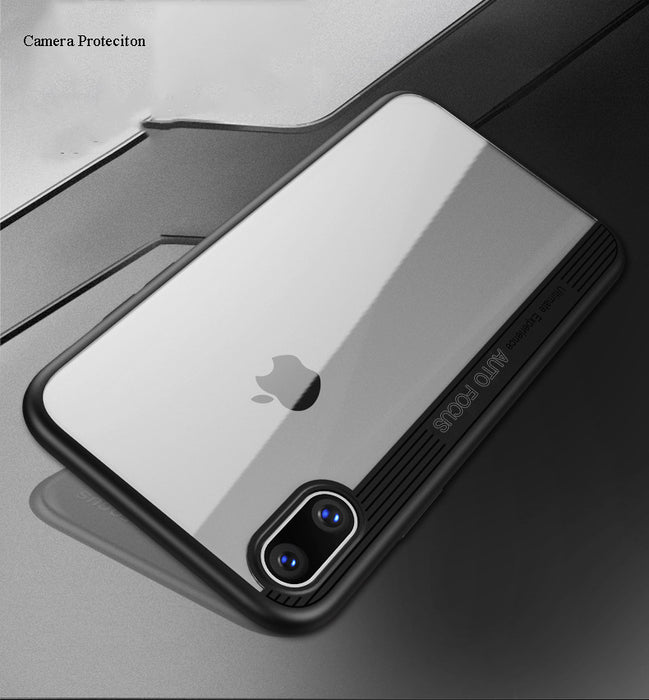 daTTap For Apple iPhone X Case Slim Transparent Ultra Thin Hard PC + Soft TPU Full Protective Back Cover For iPhone X Case Coque - iDeviceCase.com
