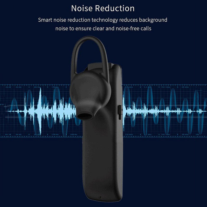 ROCKSPACE Bluetooth Earphone D100 Wireless Mono Handsfree 1 to 2 Devices Earbud Single Earpiece for Samsung Noise Cancel w/ Mic - iDeviceCase.com