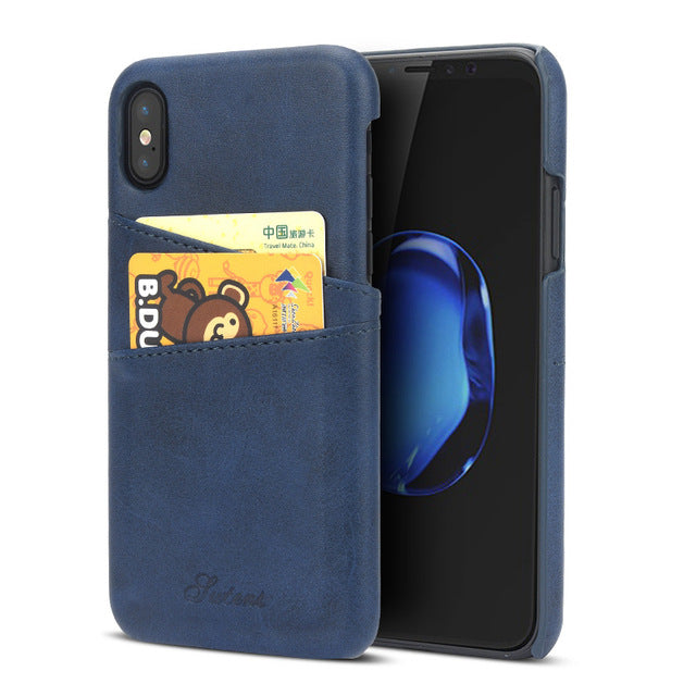 KEYSION Phone Case For iPhone X Cover Leather Luxury Wallet Card Slots Back Capa For iPhone X Cases Fundas for iPhone 10 - iDeviceCase.com