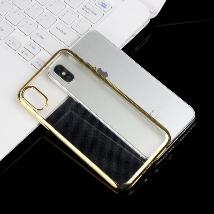 Phone Cases Coque Luxury Gold Plating Gilded Clear Soft TPU Case Silicone Back Cover - iDeviceCase.com