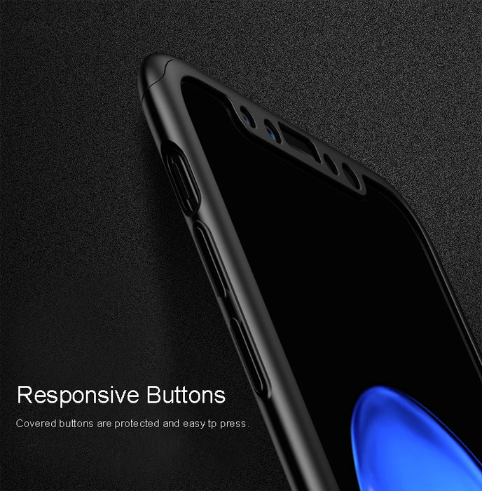 360 Protection Case for iPhone X Cover Vpower Luxury Ultra Thin Full Protection Capa Cases - iDeviceCase.com