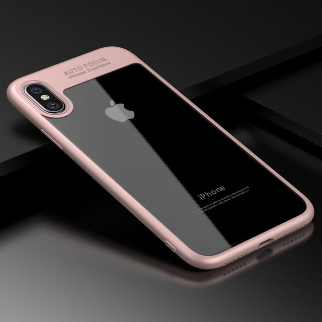 ARTISOME Full Cover Protector Case For iPhone X Fashion Ultra Slim TPU & PC Transparent Back Cover - iDeviceCase.com