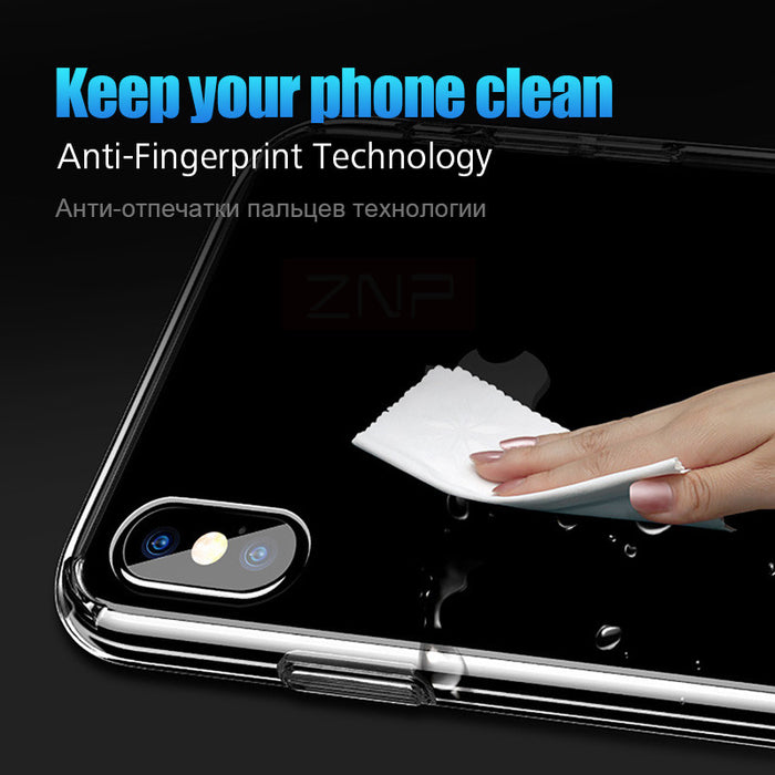 ZNP Silicone Transparent TPU Case Ultra Thin Soft Cover Crystal Clear Silicon Phone Cases Capa - iDeviceCase.com