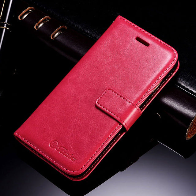TOMKAS Case Wallet Cover Flip Style PU Leather Phone Bag Case Coque With Card Holder Kickstand - iDeviceCase.com