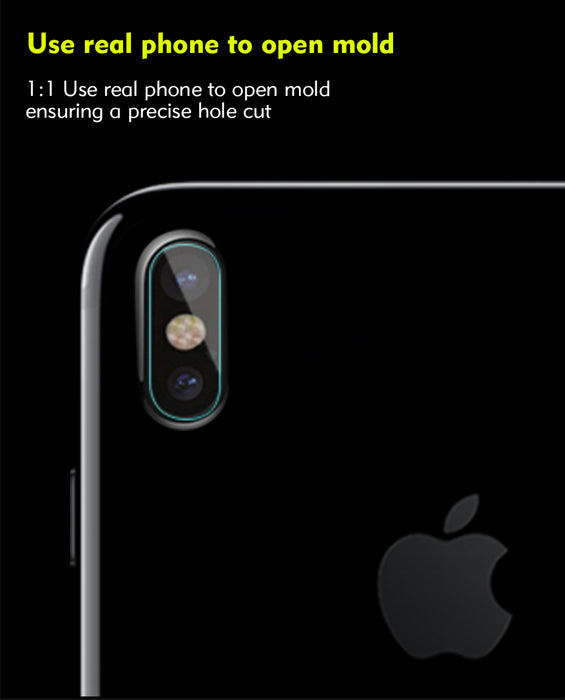 2pcs For iPhone X Benks Transparent Camera Lens Back Screen Protector Tempered Glass Film - iDeviceCase.com