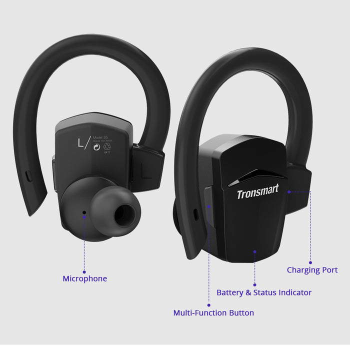 Tronsmart Encore S5 Bluetooth Earphone Headphones Passive Noise Cancelling Wireless Earphones - iDeviceCase.com