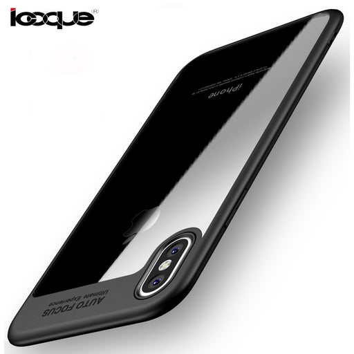 ICOQUE Case Fashion Soft Silicone Acrylic Case for Coque Capas iPhone X Phone Bag Cover - iDeviceCase.com