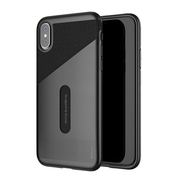 Baseus Card Pocket Case For iPhone X Capinhas PU Leather PC TPU Protective Card Slot Wallet Cover - iDeviceCase.com
