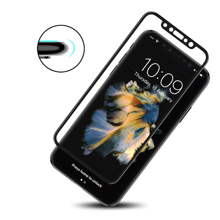FLOVEME 3D Tempered Glass Screen Protector For iPhone X Glass Film Ultra Thin 0.26mm 9H Explosion-proof Anti-scratch Protector - iDeviceCase.com