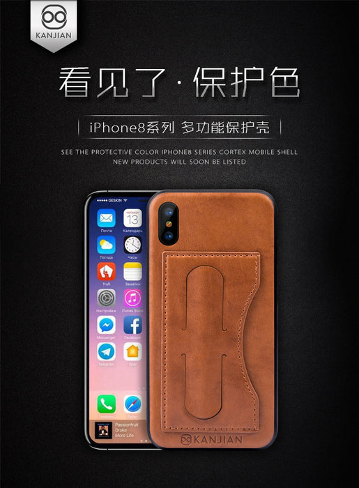 "Iphone X Cover PU Leather + TPU Card Slot Case For Apple Iphone X Case For Iphone X Fundas 5.8"" - iDeviceCase.com"