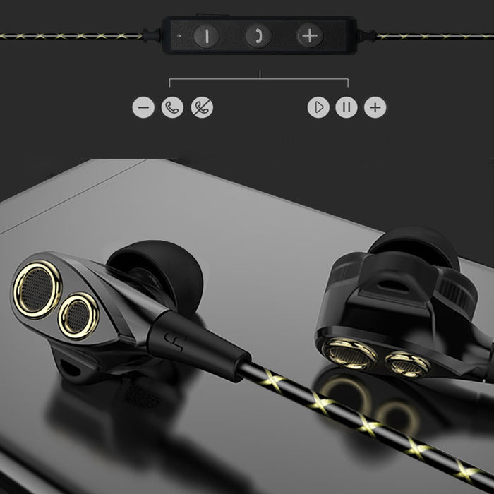 CBAOOO In-Ear Bluetooth Earphones HIFI Sport Stereo Bass Earbuds 4 Speakers Headset Bluetooth 4.1 Wireless Earphone - iDeviceCase.com