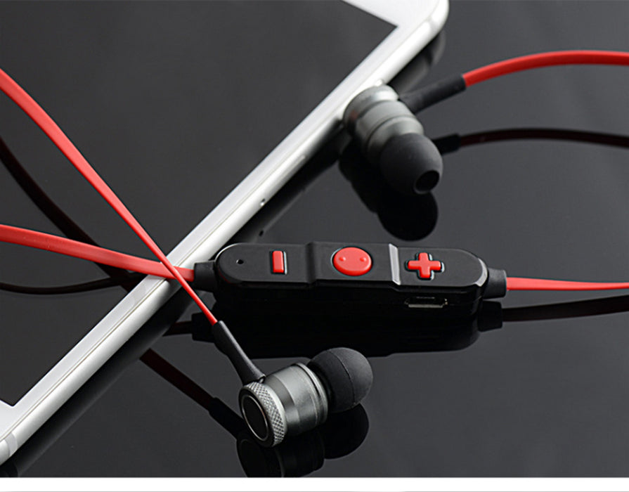 AIPAL Bluetooth earphone Metal Magnetic Wireless Stereo Headphones with Mic Sport Running HD Music - iDeviceCase.com