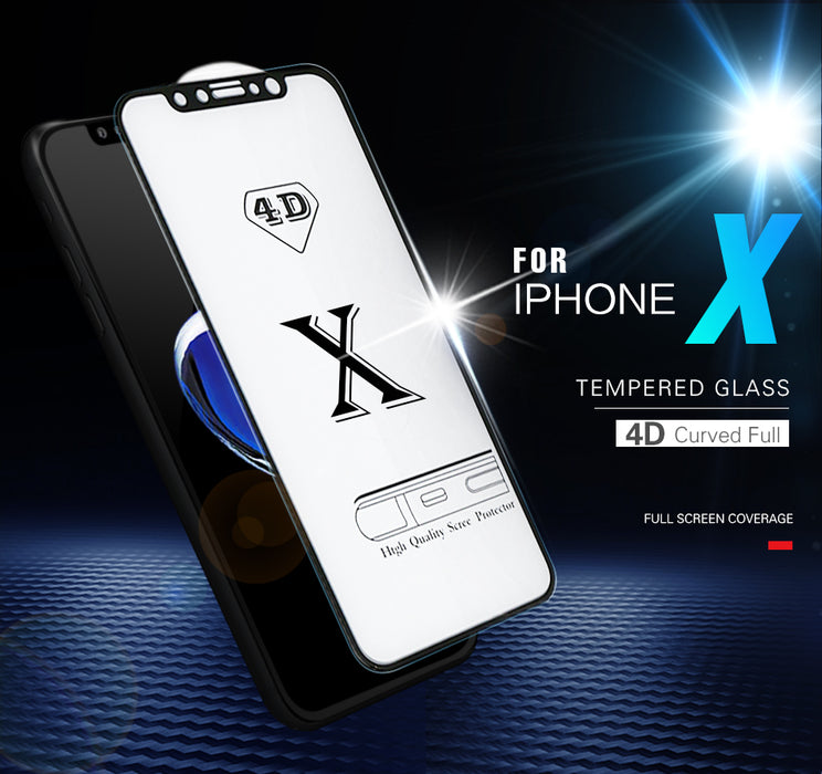 CONNICS 4D Full Cover Tempered Glass Curved Edge Protective Screen Protector Film - iDeviceCase.com