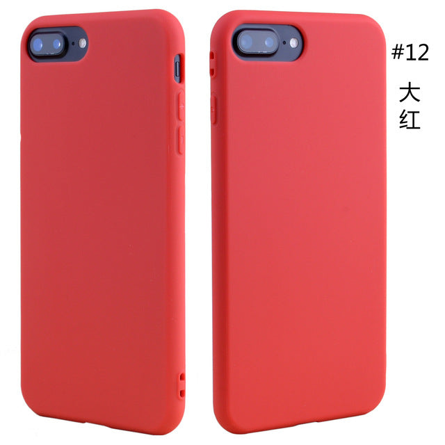 Slim Silicon Phone Case Ultra Thin Matte TPU Back Case Cover Skin Solid Candy Color - iDeviceCase.com