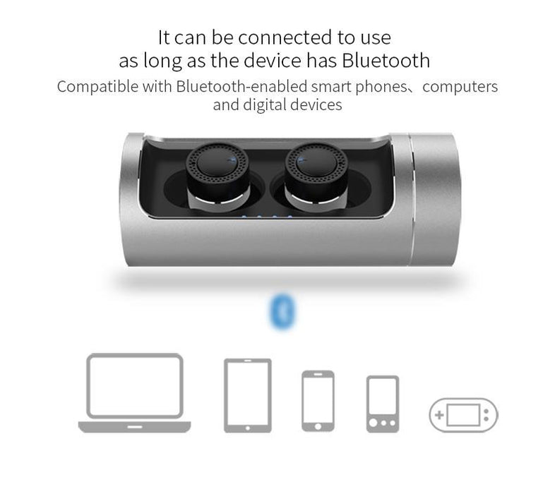 NEW OVEVO Q62 Dual Wireless Bluetooth Earphone Portable Charging 800mAh Cabin Headset Mini Earphone - iDeviceCase.com