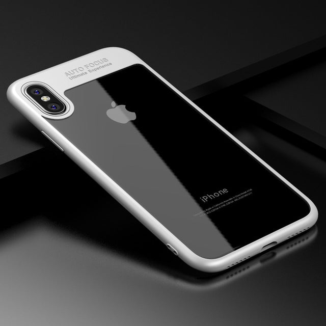 LACK Fashion Transparent Slim Phone Case Luxury Soft TPU Frame + PC Back Cover Luxury Clear Cases - iDeviceCase.com