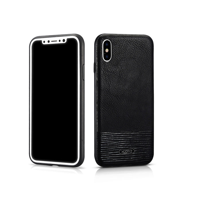 Fahsion Serpentine Stitching Leather Fitted Case For Apple iPhone X Anti-Knock Protect Snake Pattern Case For iPhone X 5.8 inch - iDeviceCase.com