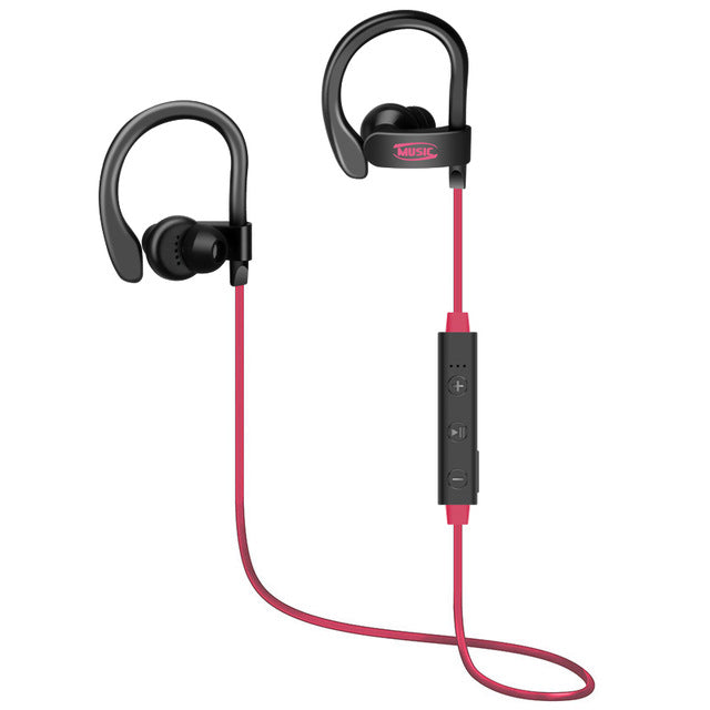 Sports Bluetooth Earphone 4.1 Stereo Earbuds Wireless Headset Bass Earphones with Mic In-Ear - iDeviceCase.com
