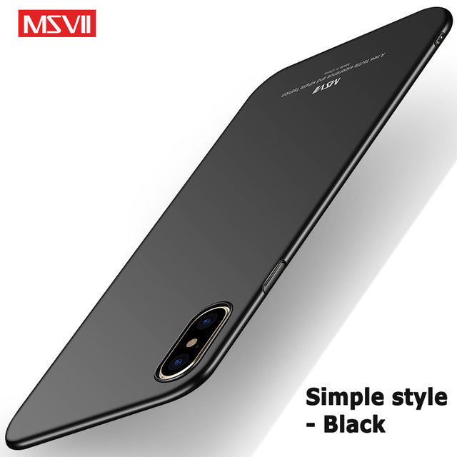 For iPhone x case Original MSVII brand Silm scrub case For Apple iphone x coque ultra thin PC cover For iphone 10 iphonex cases - iDeviceCase.com