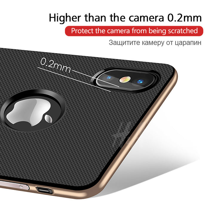 Luxury 360 Protective Case For iPhone X Cover Kickstand PC+TPU Shock Proof Holder Phone Cover For iPhone X Case Coque H&A - iDeviceCase.com