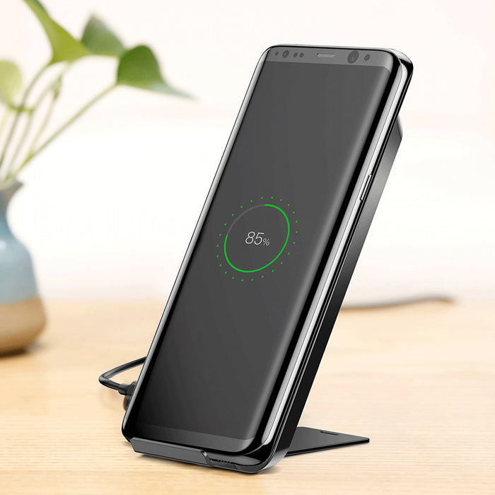 Baseus WiC1 Multifunctional Qi Wireless Charging Pad Dual Coil Charger with Desktop Holder - iDeviceCase.com