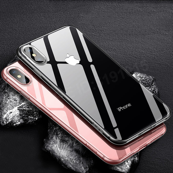 GKK Transparent TPU Case For iPhone X Ultra Thin Soft Silicon Cover Crystal Clear Silicon - iDeviceCase.com