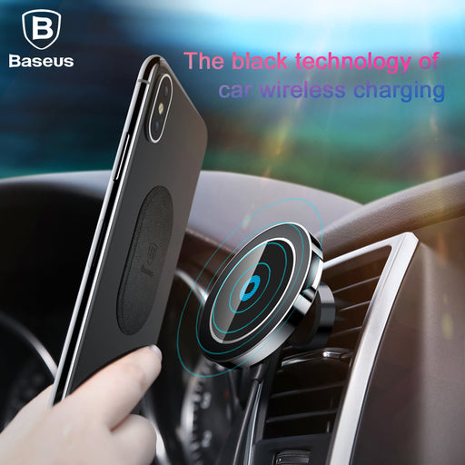 Baseus Magnetic Wireless Charger Fast Charging Magnet Car Phone Holder Docking Station - iDeviceCase.com