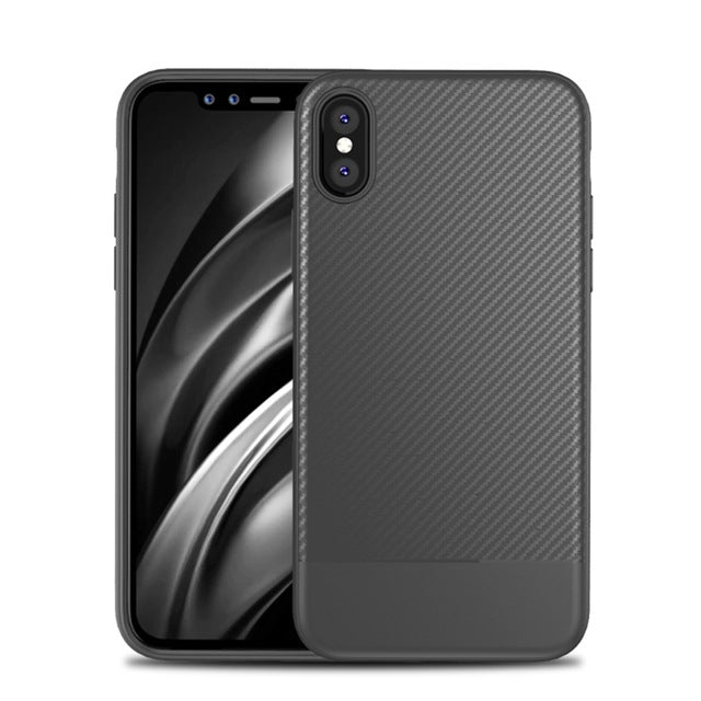 FLOVEME Luxury , Business Carbon Fiber Cover Silicon Phone Case Accessories - iDeviceCase.com