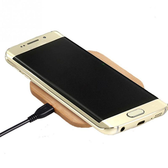 Wood Grain Wireless Charger Wireless Charging Stand - iDeviceCase.com