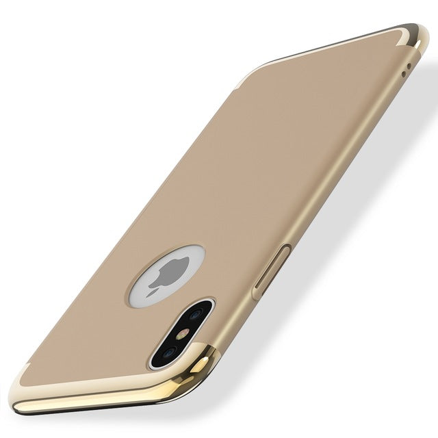 FLOVEME Case For iPhone X ,Luxury 3 in 1 Combo Plating Hard PC Plastic Cover For iPhone 6 7 6S Plus Mobile Phone Accessories Bag - iDeviceCase.com