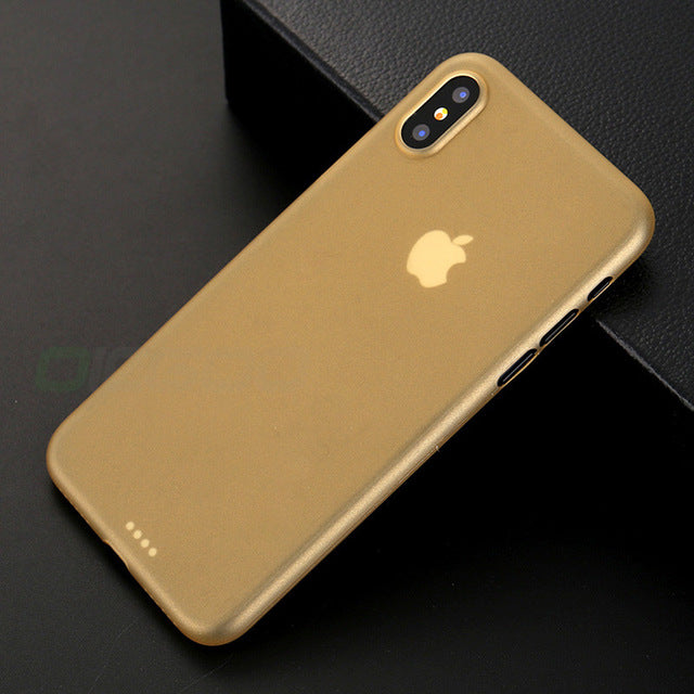 OICGOO Ultra Thin Matte Transparent Phone Cases For iPhone 8 7 6 Plus Cover Case For iphone X Case 8 7 6 6S 0.3mm Phone Bag Capa - iDeviceCase.com