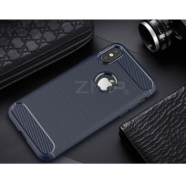 ZNP Carbon Fiber TPU Soft Silicone Cases Luxury Back Protector shell - iDeviceCase.com