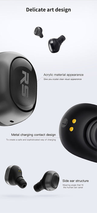 Riversong AirX 2 Mini business earbuds bluetooth earphones wireless 3D stereo headphones headset In-ear Invisible Earpieces Q29 - iDeviceCase.com