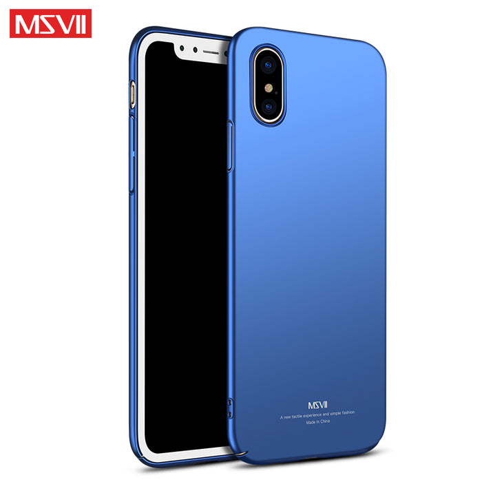 For Apple iPhone x case Original MSVII Silm scrub case For iphone x coque ultra thin PC cover For iphone 10 cases For iphonex - iDeviceCase.com