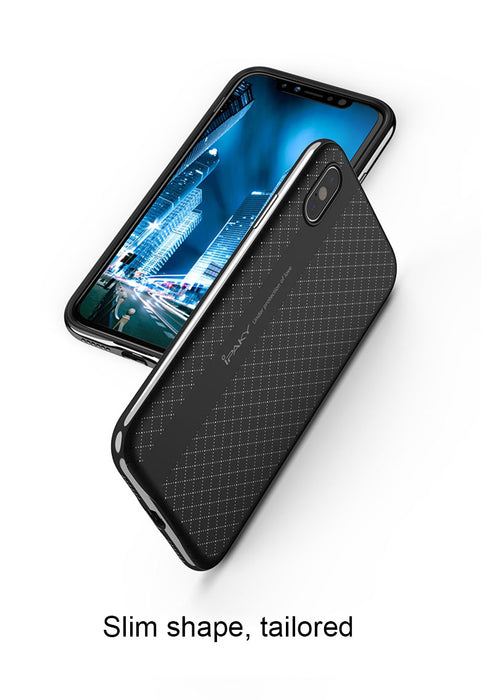for apple iphone X Case cover ipaky brand luxury Soft TPU + Hard PC Frame 2 in 1 Hybrid Case for iphoneX iphone X Case Shield - iDeviceCase.com