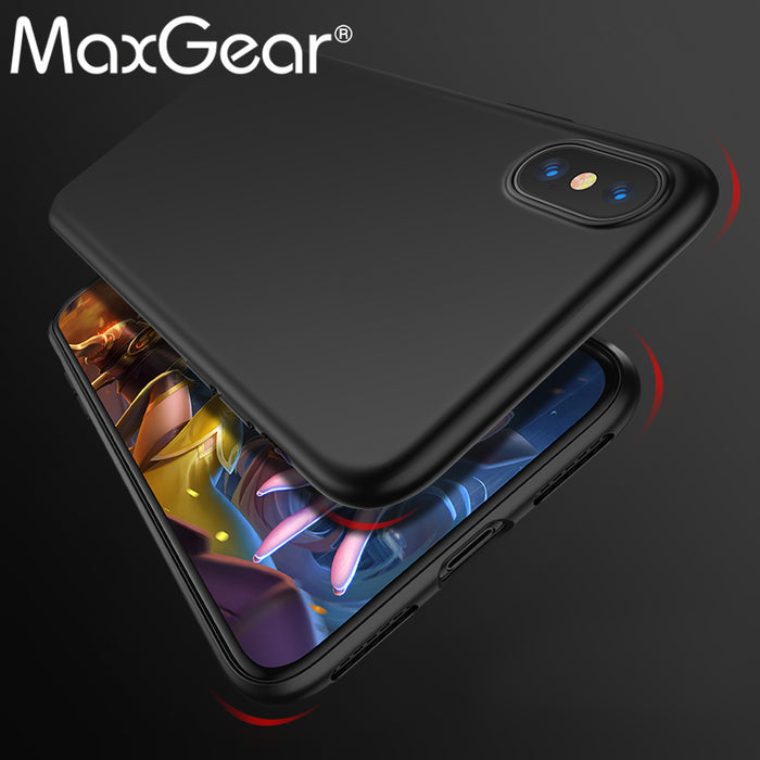 MaxGear Matte TPU Case for iPhone X Ultra-thin Comfortable Soft Cover Fitted Protective Cover - iDeviceCase.com