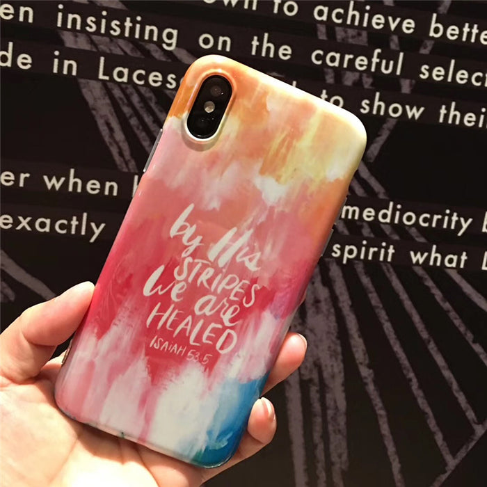Love Never give up phone Cases For iphone 7 7Plus inspiring words painted Soft TPU case for iphone X 6 6s 6plus 8 8plus - iDeviceCase.com