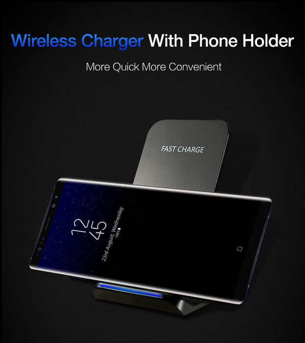RAXFLY Wireless Charger For Samsung S8 S7 S6 Edge Plus Note 8 5V/1.8A Quick QI Wireless Charger For iPhone X 8 Plus Nexus 5 6 7 - iDeviceCase.com