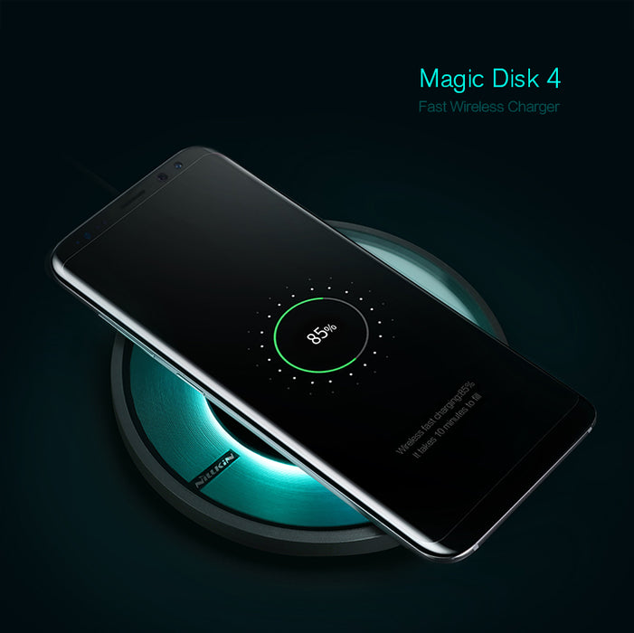 for apple iphone X Wireless charging NILLKIN Magic Disk 4 iphoneX Fast Wireless Charger QI standard CE FCC PSE certification - iDeviceCase.com