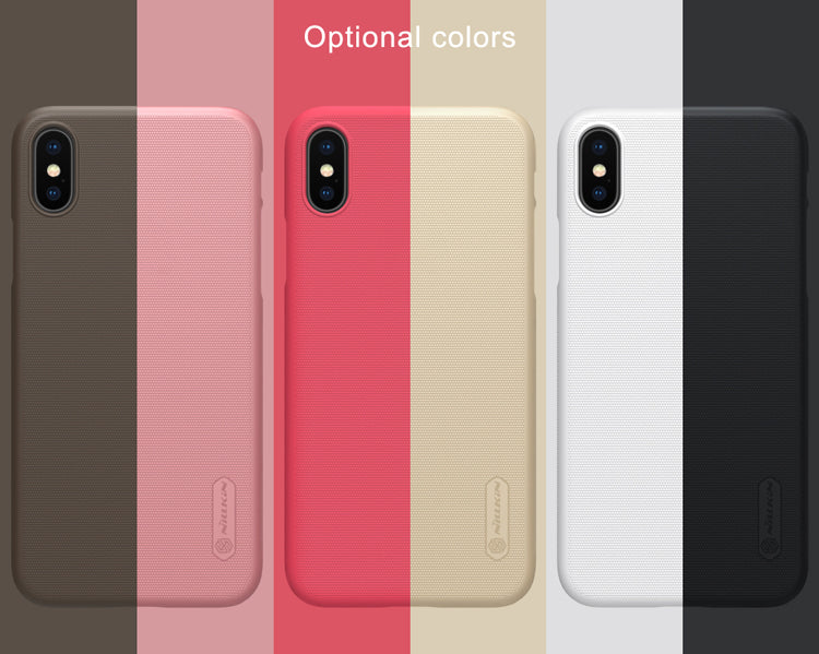 iPhone X Cover NILLKIN Super Frosted Shield X Matte Hard PC Back Case With Screen Protector - iDeviceCase.com