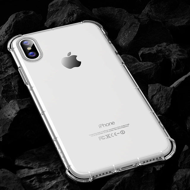 ROCK Protective Case for iPhone X Case Anti knock Clear Coque Cover Armor Case Heavy Duty Protection Case ShockProof Back Shell - iDeviceCase.com