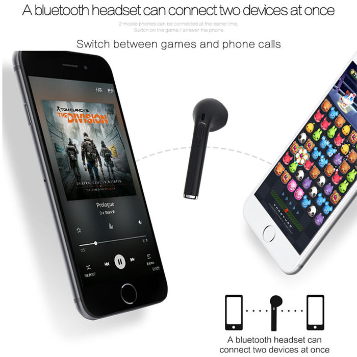 Mini bluetooth Earphone Wireless Headset Earbud In-Ear Earphone Earpiece for Apple iPhone 7 7 plus Xiaomi PK I7 earphone - iDeviceCase.com