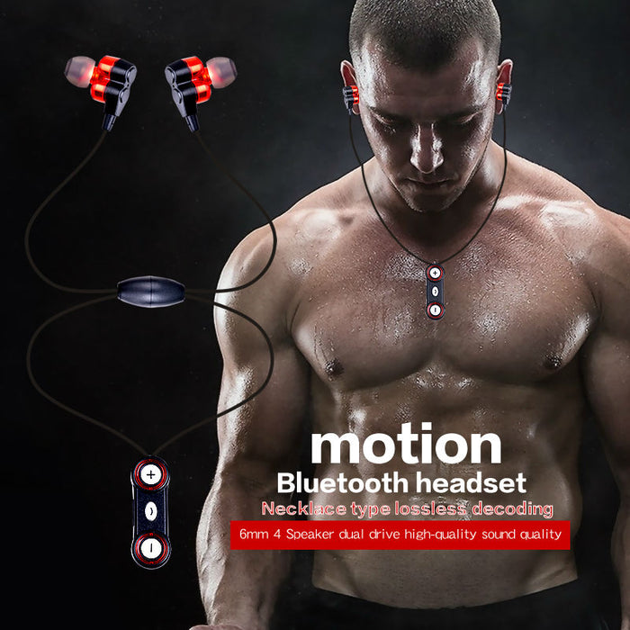 Sports Necklace Bluetooth Earphone CSR4.1 APT-X Noise Cancelling Headphone Magnetic Double Mic - iDeviceCase.com