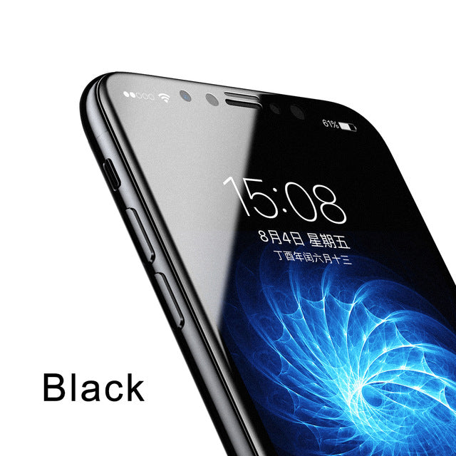Baseus 3D Matte Glass For iPhone X PET Edge Frosted Tempered Glass For iPhone X Full Coverage - iDeviceCase.com