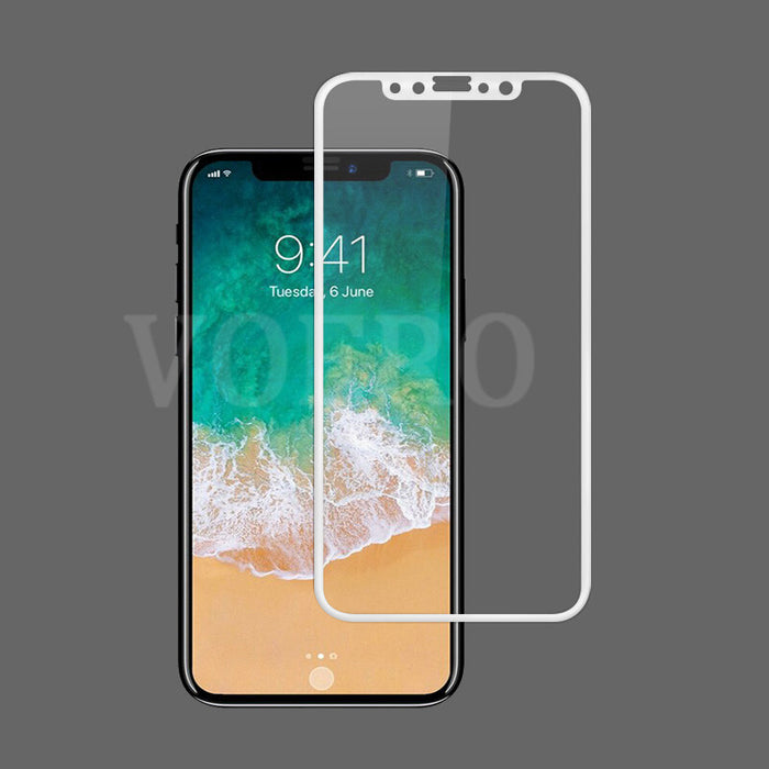 VOERO Luxury Tempered Glass Full Cover Screen Protector 3D Curved Soft Edge Protector Case - iDeviceCase.com