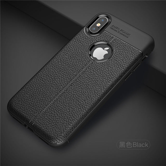 Fundas For Apple iPhone X Case Business Style Soft Silicone Back Cover Shockproof Protection Mobile Phone Bags For iPhone 10 Ten - iDeviceCase.com